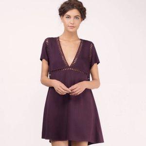 Toni plum dress